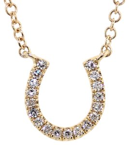 ABC Jewelry Fancy Diamond Horseshoe Necklace