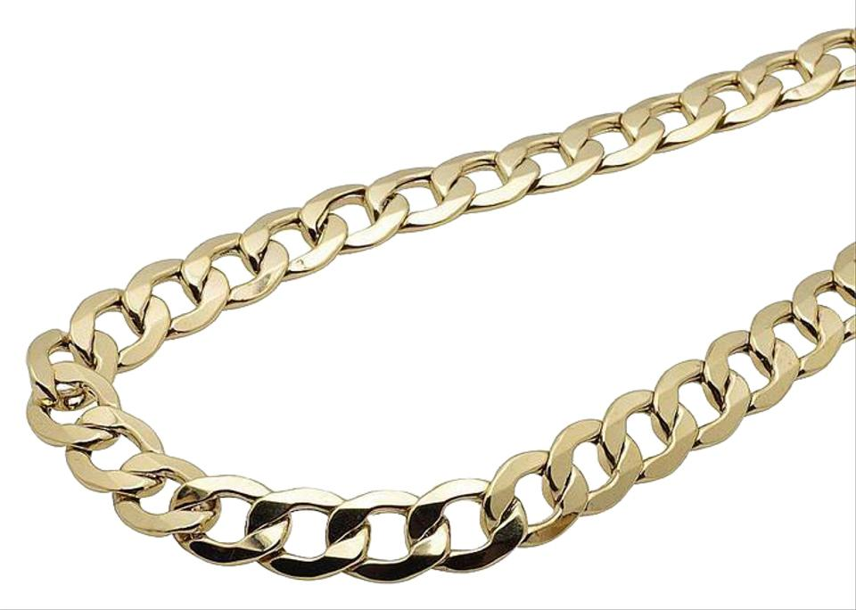 ab224a7a0 10k Yellow Gold Mens Curb Cuban Link Chain 10mm 24