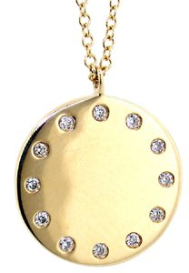 ABC Jewelry Fancy Diamond Disc Pendant