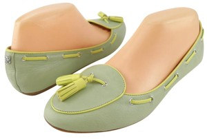 Coach Loafers Tassel Round Toe Mint Celadon Yellow Flats