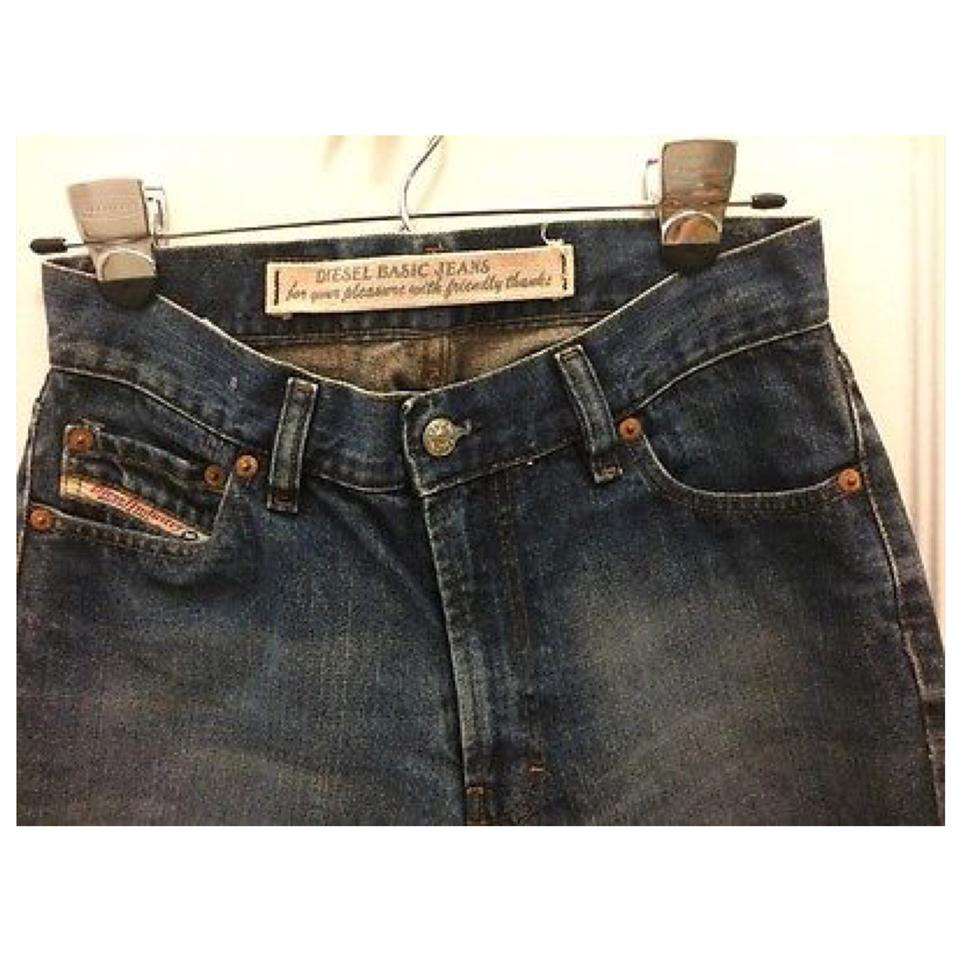 525706d9 Diesel Dark Blue Rinse Vintage 90s High Waisted Straight Leg Jeans ...