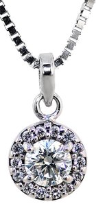 ABC Jewelry Diamond fashion pendant with accent diamonds .30tcw G color VS2 clarit