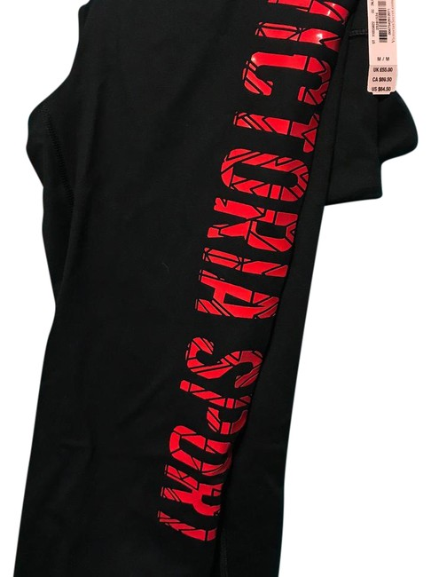 Item - Black with Red Lettering Knockout Activewear Bottoms Size 8 (M)