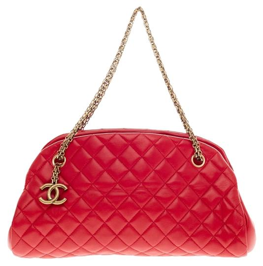 Chanel Just Mademoiselle Quilted Leather Shoulder Bag