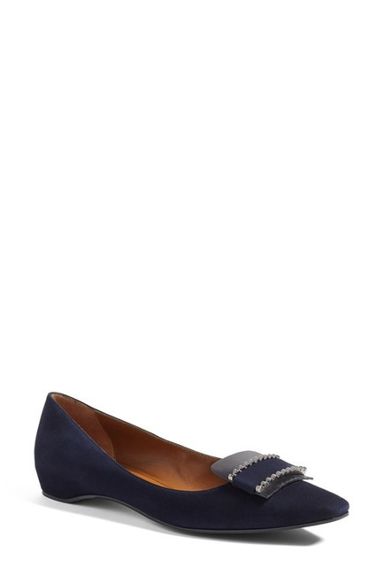 Aquatalia Navy Monica Flats Size US 8 Regular (M, B) Aquatalia Navy Monica Flats Size US 8 Regular (M, B) Image 1