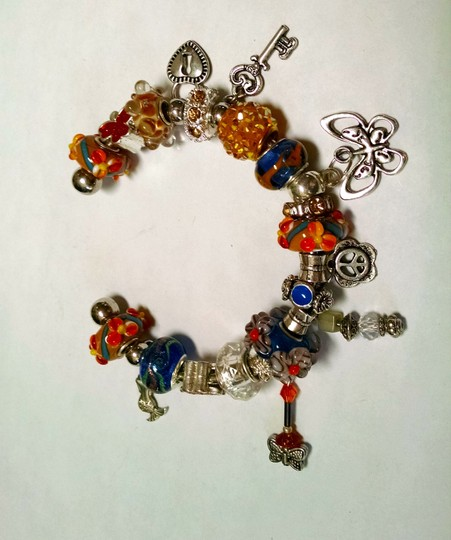 Other New European Charm Bracelet 21 removable charms J769