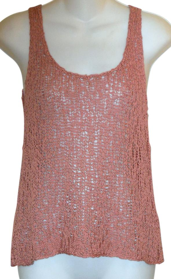 3442a42dd66db Eileen Fisher Pink X-small Open Knit Sweater Tank Top Cami Size 2 ...