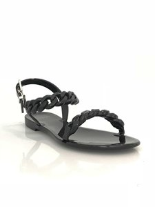 Givenchy Chain Jelly Slide Slides Black Sandals
