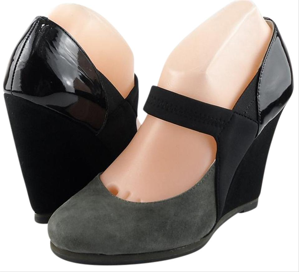 Plenty by Tracy Reese Gray Wedge / Black Riley Suede Wedge Gray Eur 37.5 Pumps 4d1935
