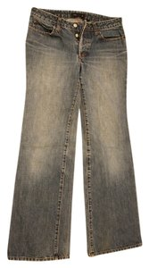 J. Crew Straight Boyfriend Button Fly Sailor Trouser/Wide Leg Jeans-Medium Wash
