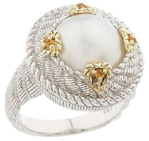 Judith Ripka Judith Ripka Sterling and 14K Clad White Cultured Mabe' Pearl Ring