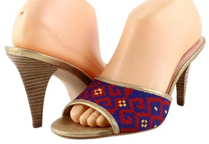 Plenty by Tracy Reese Geometric Pattern Red / Purple Mules