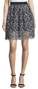 self-portrait Sale Lace Daisey Lace Mini Skirt Black