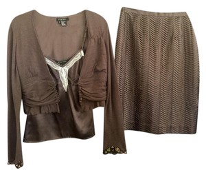 Etcetera Etcetera 3PC Cashmere sweater, silk Cami and silk Skirt