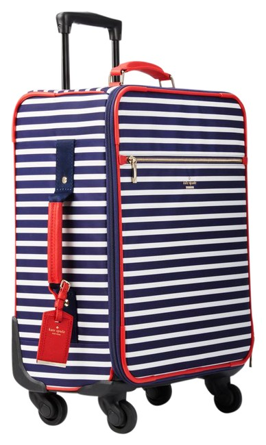 Item - L Classic Int'l Carry On Spinner Luggage-striped Navy/White Striped Nylon Weekend/Travel Bag