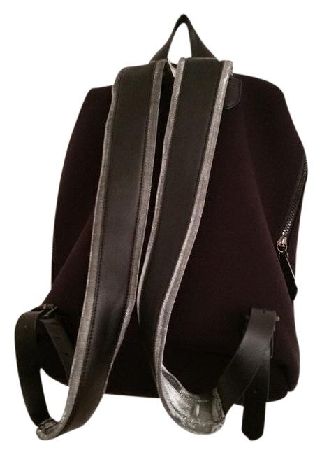Item - Large Zipper; Accents Black with Silver Neoprene Backpack