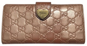 Gucci Gucci Signature Heart French Flap Long Wallet