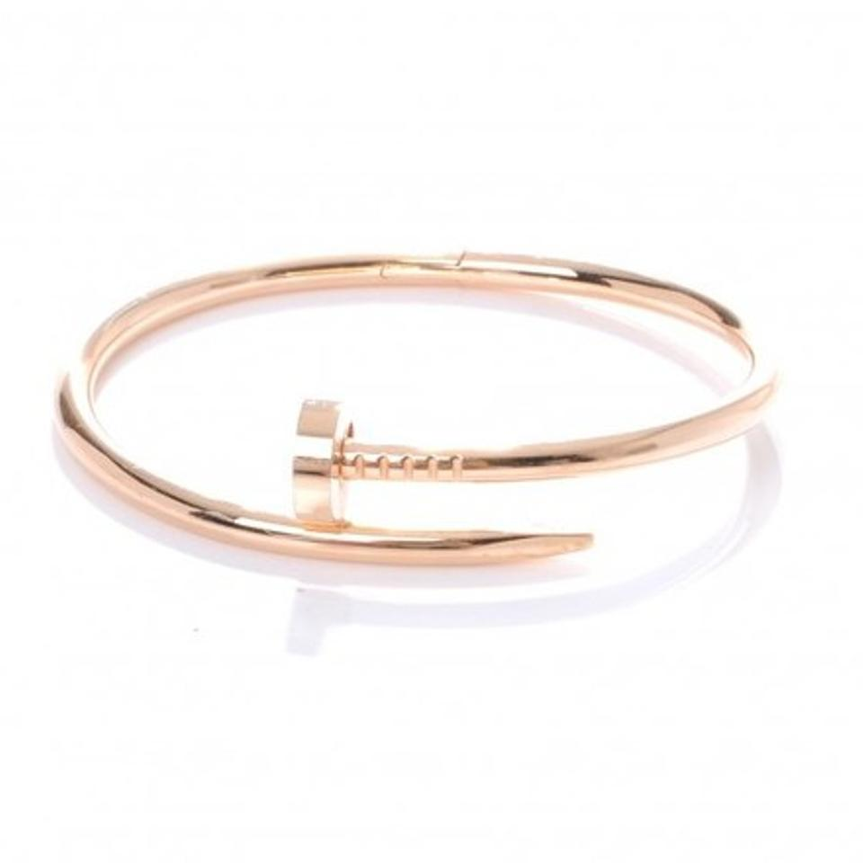 custom un pink set with bracelet brilliant cut made juste inspired gold diamonds cartier clou