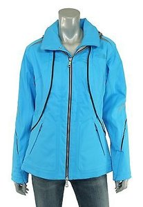 North Face Bibi Leather Blue Jacket