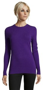 Other Cashmere Designer Plum Royal 100% Cashmere Sweater
