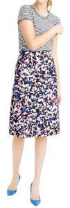 J.Crew A-line New With Tags Hibiscus Lined Skirt Multi