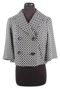 DVF Cotton 3/4 Sleeve Black & White Jacket