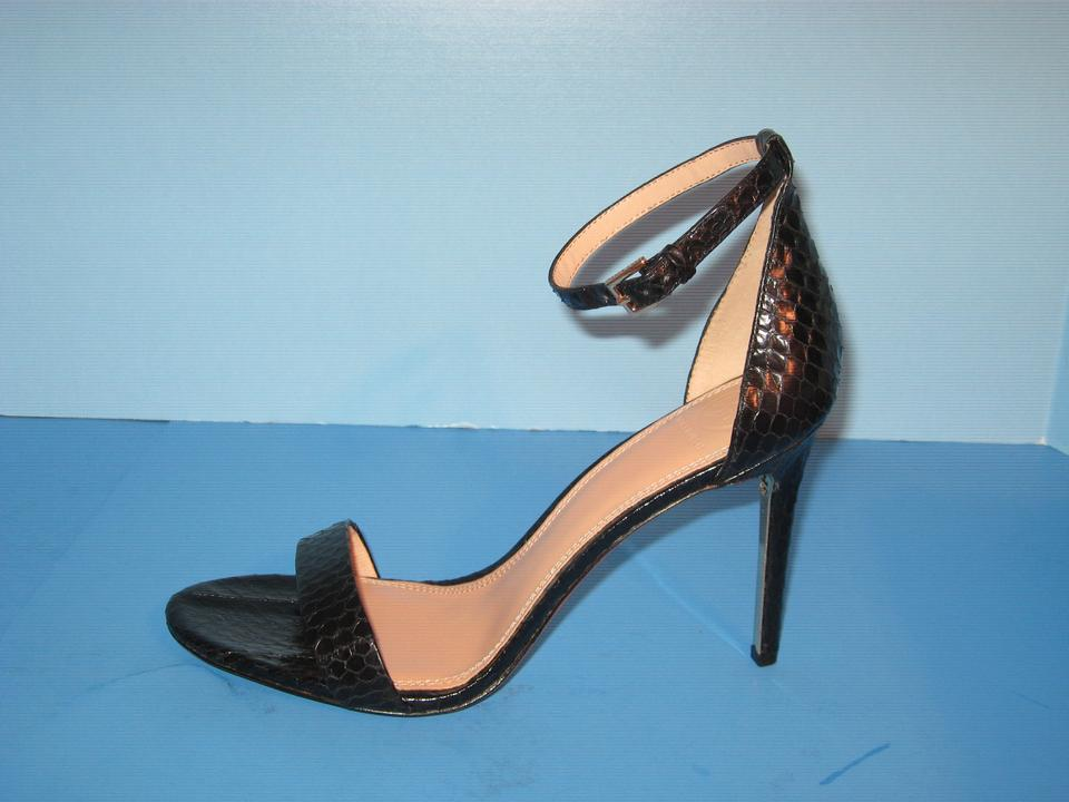 ae53c31a84e Tory Burch Black New Keri 100mm Snakeskin Ankle Strap Sandals M Formal Shoes  Size US 11 Regular (M