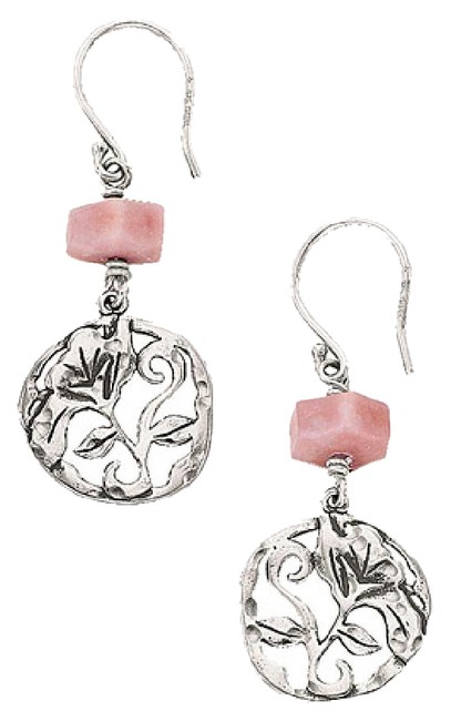 Item - Pink W2212 Sterling Silver Flirt Alert Earrings