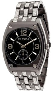 ELGIN ELGIN MENS BLACK TONE WATCH WITH BRACELET AND SUB DIAL FGC9752