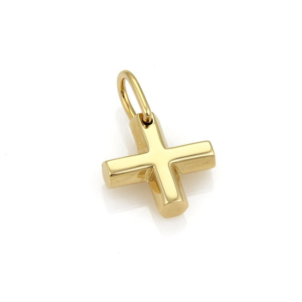 Bvlgari yellow gold 18k cross pendant charm tradesy bvlgari bulgari 18k yellow gold cross pendant audiocablefo