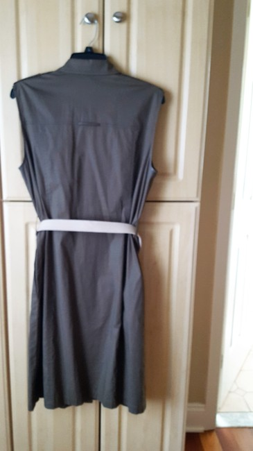 Tahari Cotton With Belt Out Dress Image 1