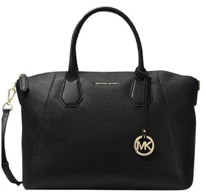 Michael Kors Tory Burch Campbell Leather Satchel in Black