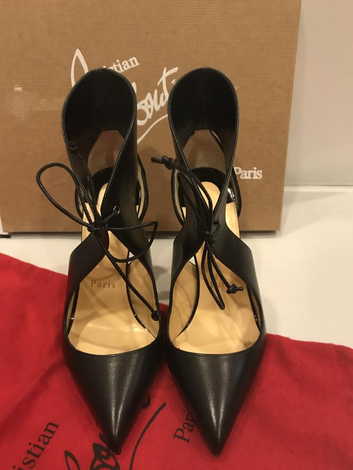 a2fd9acd19e Christian Louboutin Black Ferme Rouge Suede Leather Self Tie Pointed Toe  Pumps Size EU 35.5 (Approx. US 5.5) Regular (M, B) 28% off retail