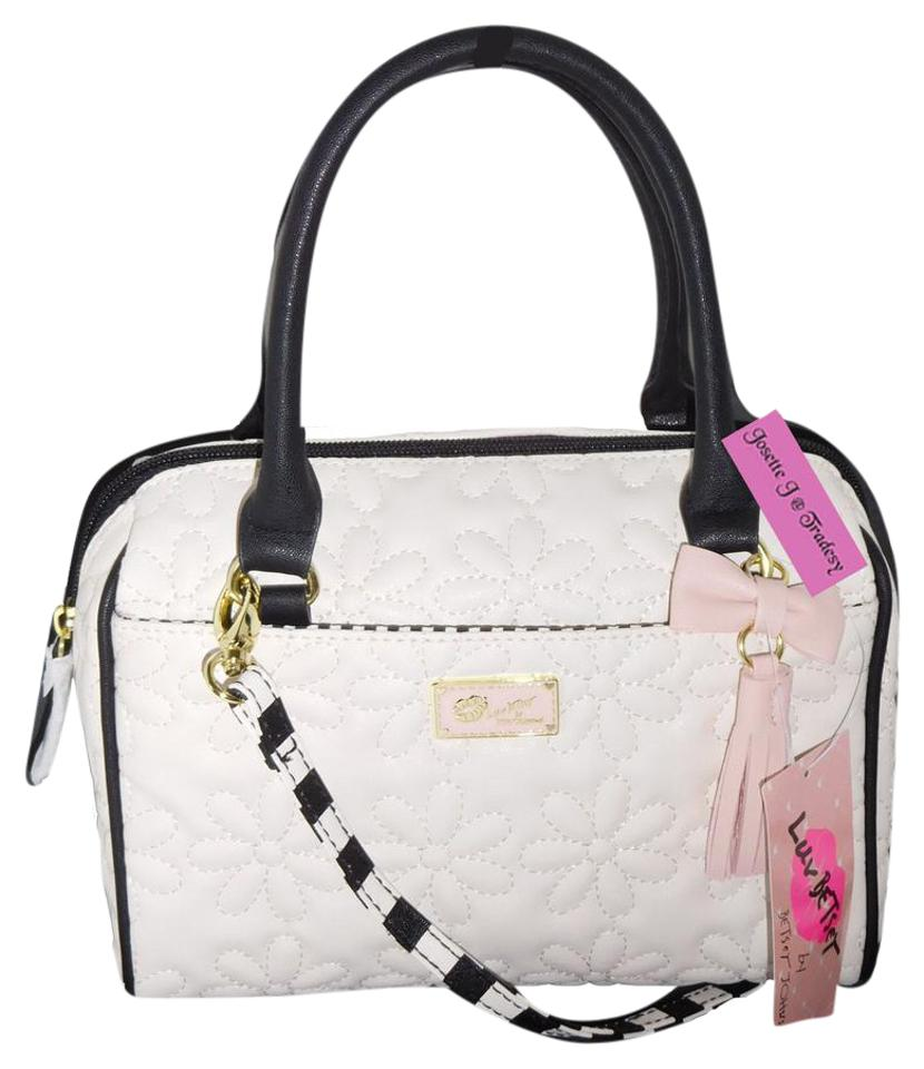 5478f1f8a08e Betsey Johnson Luv Betsey/Front Pocket / Bone Faux Leather Cross ...