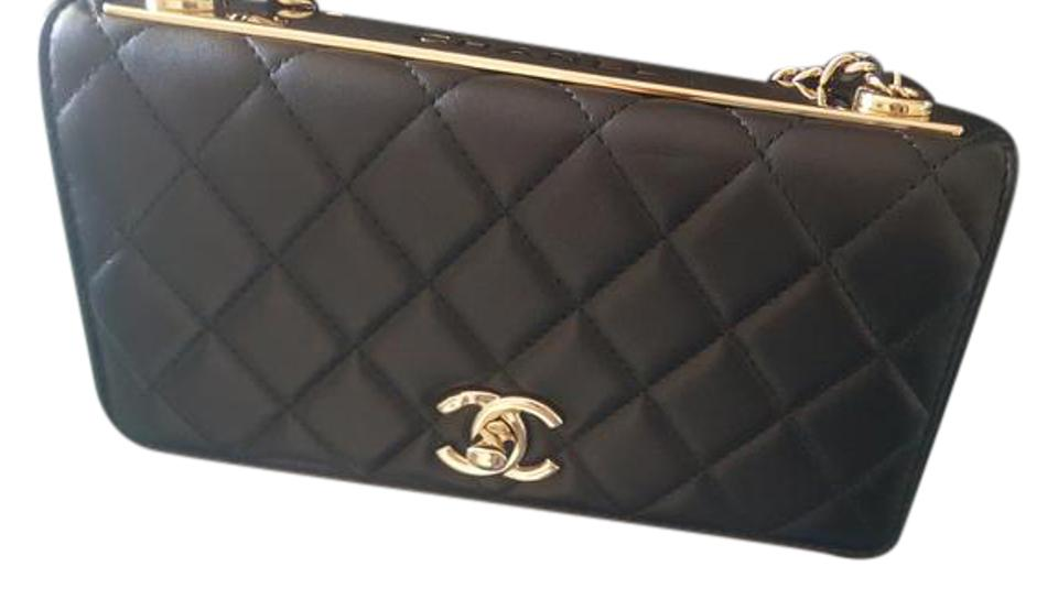 4fa2104483e8ba Chanel Wallet on Chain Guaranteed Trendy Cc Woc Black Lambskin Leather Shoulder  Bag