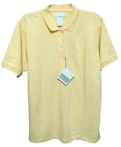 Cutter & Buck New Polo Bright Lemon Sleeve Golf 12 14 Large T Shirt yellow