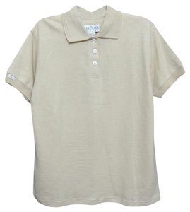 TEHAMA Chamois Polo Ladies Cream Sleeve Golf Cotton New T Shirt beige