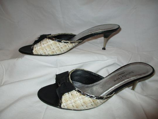 Isabella Fiore Leather Sole Tweed tan, beige & black Sandals Image 2