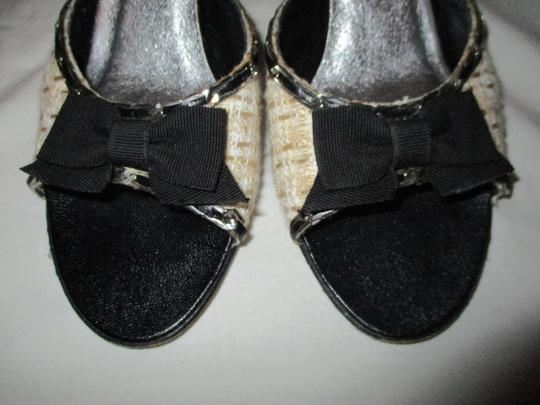 Isabella Fiore Leather Sole Tweed tan, beige & black Sandals Image 5