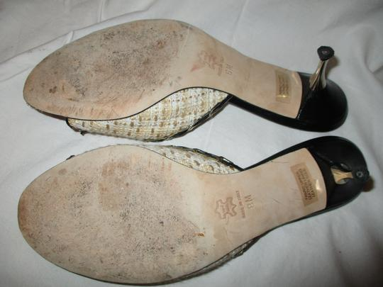 Isabella Fiore Leather Sole Tweed tan, beige & black Sandals Image 8