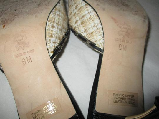 Isabella Fiore Leather Sole Tweed tan, beige & black Sandals Image 9