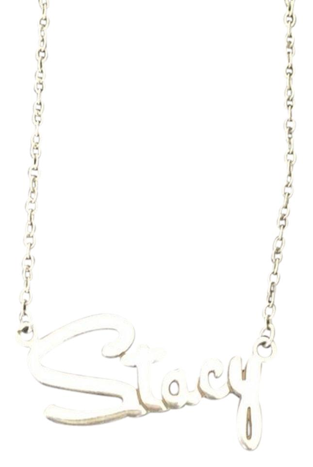 925 Sterling Silver High Polish Nameplate Necklace
