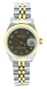 Rolex Ladies Rolex Two-Tone 18K/SS Datejust Gray Slate Arabic 69173