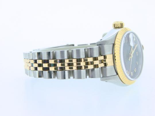 Rolex Ladies Rolex Two-Tone 18K/SS Datejust Gray Slate Arabic 69173 Image 1