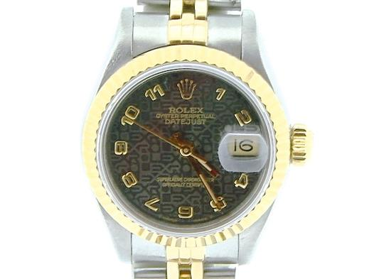 Rolex Ladies Rolex Two-Tone 18K/SS Datejust Gray Slate Arabic 69173 Image 4