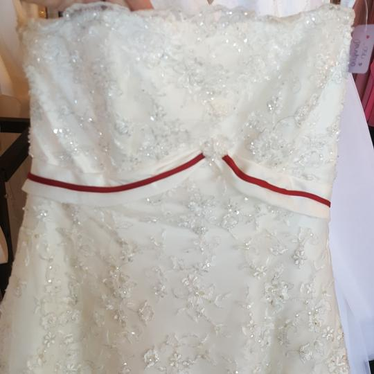Alfred Angelo Diamond White Taffeta 1150 Vintage Wedding Dress Size 10 (M) Image 1