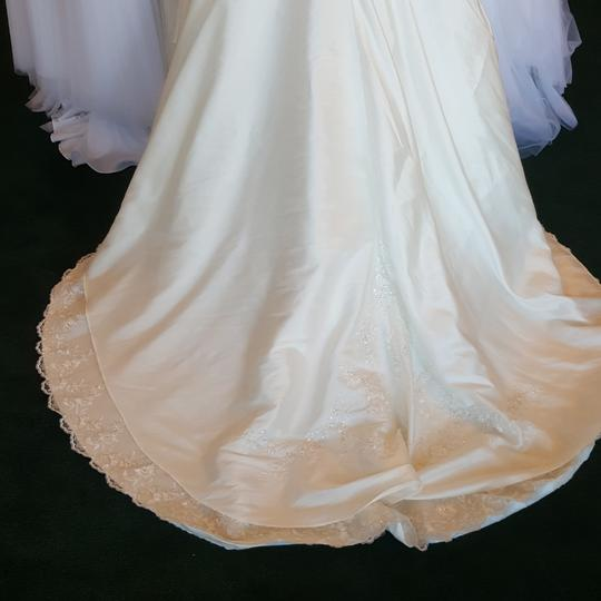 Alfred Angelo Diamond White Taffeta 1150 Vintage Wedding Dress Size 10 (M) Image 3
