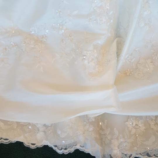 Alfred Angelo Diamond White Taffeta 1150 Vintage Wedding Dress Size 10 (M) Image 4