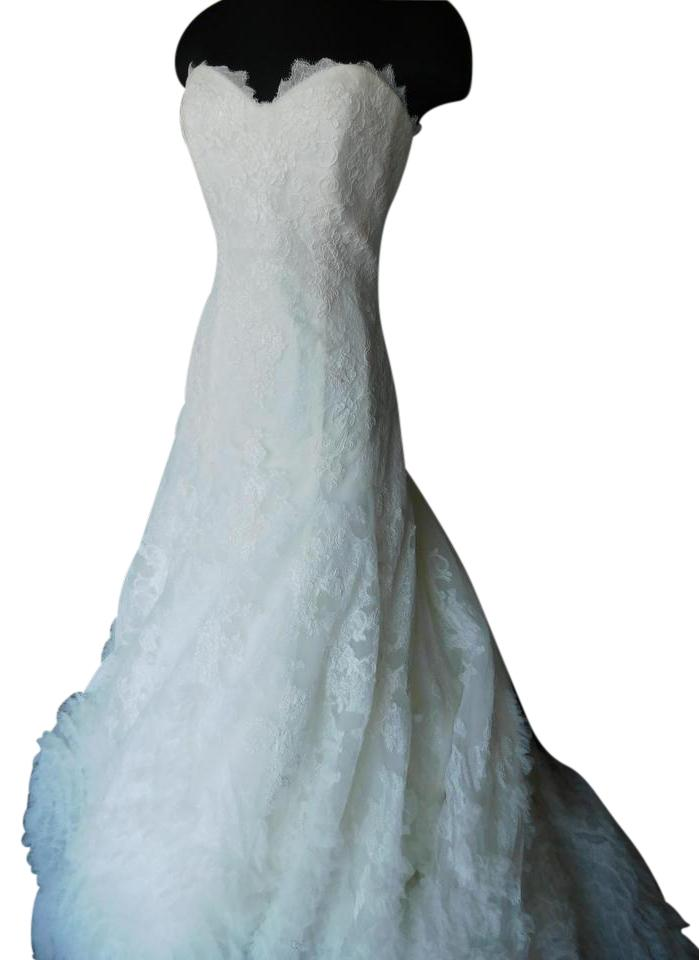 Pronovias Off White Maive Wedding Dress Size 12 (L) - Tradesy