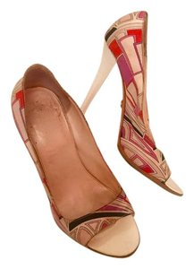 Emilio Pucci Heels multi pink purple white Pumps